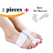 4pcs(2pcs splint+2pcs gel bunion) Toe Straightener Bunion Splint Movable Protection and Correction Hallux Valgus Pain Relief