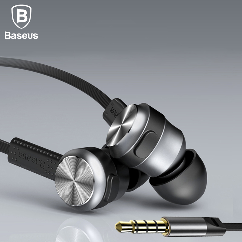 Baseus Fashion In-Ear Stereo Earphone For iPhone 6 Samsung 3.5mm Aux jack Sport Running In Ear Earpiece Headset For iPad MP3 MP4 baseus magnetic bluetooth earphone for iphone 7 samsung s8 wireless sport running stereo in ear earbuds headset mp3 mp4 earpiece