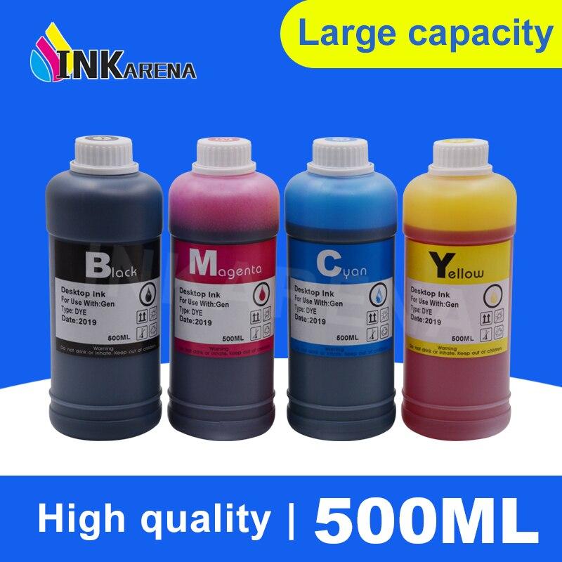 INKARENA 500ml Printer Ink Refill Kit Black Color For HP For Canon Ciss Dye Ink For Epson For Brother Inkjet CartridgesINKARENA 500ml Printer Ink Refill Kit Black Color For HP For Canon Ciss Dye Ink For Epson For Brother Inkjet Cartridges