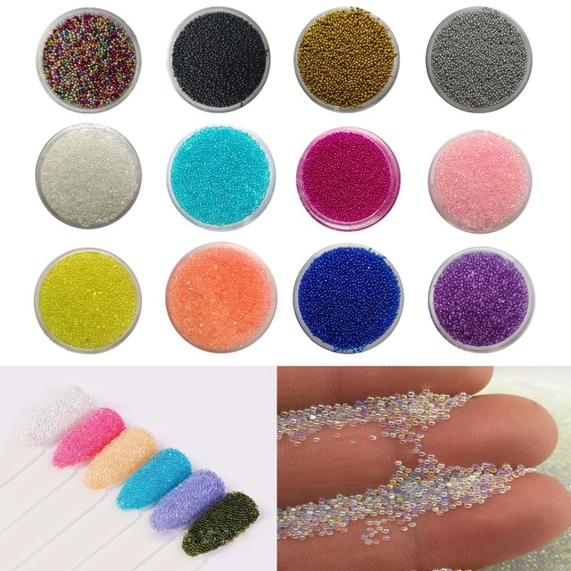 Mix 13 Kolory 3g AB Kryształ Caviar Micro Mini lakier żelowy UV 3d Wskazówka Nails Stadniny Manicure PiXie kryształki do stylizacji paznokci Dekoracje