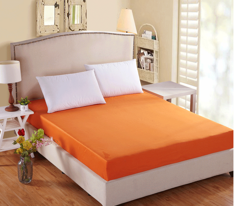orange rose beige cotton Fitted Sheet Mattress cover bed sheet elastic twin full queen Double size single bed mattress protector