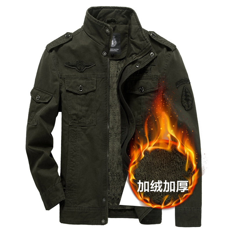 2017 New Men Cashmere Jacket mens cotton jacket Warm thick large size mens jacket Winnte ...