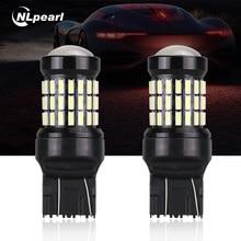 NLpearl 2x T20 7440 7443 светодио дный лампы 4014 60smd светодио дный CanBus Нет Ошибка W21/5 Вт W21W WY21W светодио дный лампы для автомобилей указатель поворота без вспышки