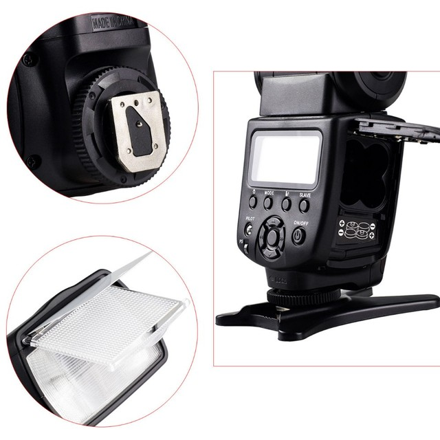 Viltrox JY-680A  Flash Light Speedlite Lamp for Canon Nikon Pentax Olympus Cameras + Free Diffuser and 20 pcs Filter