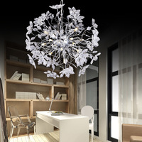 Modern Simple LED Ball Crystal Restaurant Chandeliers Living Room Lamp Clubs Clothing Store Coffee Shop Study