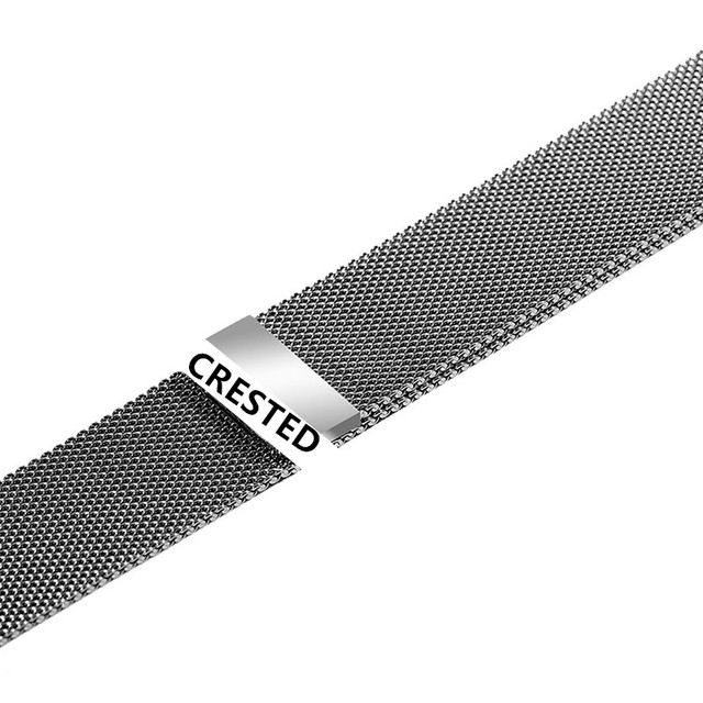 CRESTED Strap For Apple Watch band Milanese Loop apple watch 4 3 band iwatch band 42mm 38mm correa 44mm/40mm pulseira bracelet 3