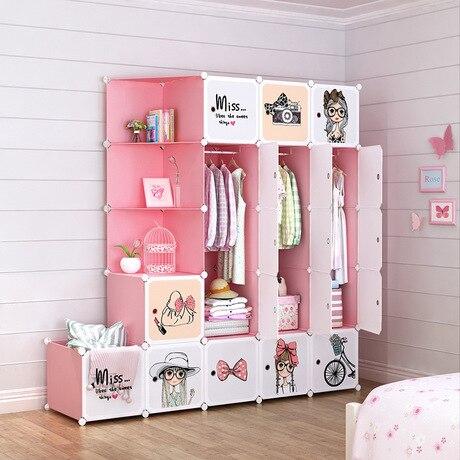 Children Furniture Children's Wardrobes Cartoon Storage Cabinet Simple Assembly Resin Closet Modern Guarda Roupa Infantil Sale