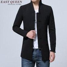Vestuário chinês tradicional para homem masculino bombardeiro jaqueta casaco de inverno oriental streetwear roupas masculinas chinesas 2019 kk1533
