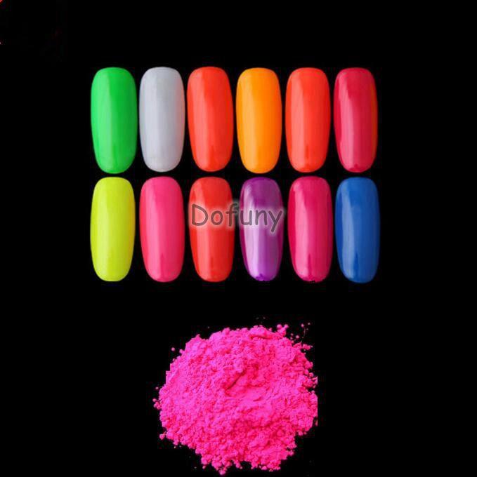 Neon Leuchtstoff Wirkung Glow Unter Uv-licht Leuchtstoffpulver 10gr/lot Schönheit & Gesundheit Symbol Der Marke Neon Staub Pulver Nail Art Glitter