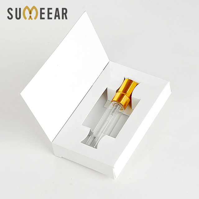 100 Pieces/Lot 5ML Customizable Paper Boxes And Glass Perfume Bottle With Atomizer Empty Parfum Packaging CUSTOM LOGO for gift