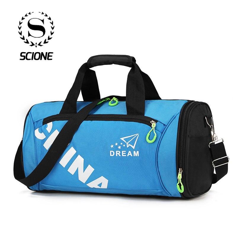 Scione Men Waterproof Travel Handbag Women Nylon Sports Crossbody Bags Light Casual Luggage Weekend Fitness Shoulder Tote Bag
