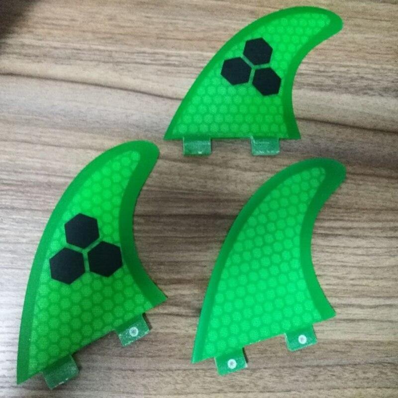 2019 Barbatanas de fibra de vidro Do Favo de mel de Surf Fin tri Quilhas FCS G5/set tamanho Médio pranchas de surf fcs barbatanas de surf 3 pçs/set