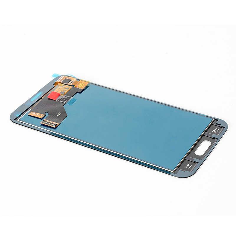LCD untuk Samsung S5 LCD G900F G900A Tampilan G900P G900T Digitizer Layar Sentuh untuk Galaxy S5 Penggantian Bagian Tidak Ada Rumah tombol