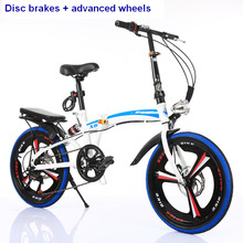 20-inch folding mountain bike 21 speed mountain bicycle double disc brake bike New folding mountain bicycle Suitable for adults