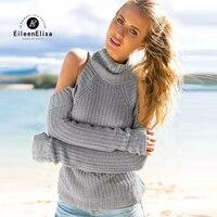 מותג אופנה צווארון גולף צמר נשים סוודר סוודרים לנשים סרוג את סוודר כתף