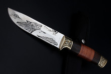 Etching-Wolf Graffiti Camping Knife Fixed Blade Small Straight Knife 7CR17MOV Hunting Tactical knives