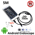 7mm Lens 5M Android OTG USB Endoscope Camera 3.5M 2M 1M Android Snake Camera Waterproof Android USB Inspection Borescope Camera