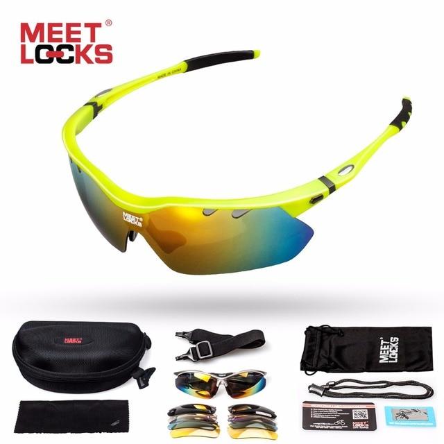 f4b683b1f5 MEETLOCKS Ciclismo gafas de Sol Polarizadas Gafas de Equitación Al Aire  Libre con Marco TR90 Gafas