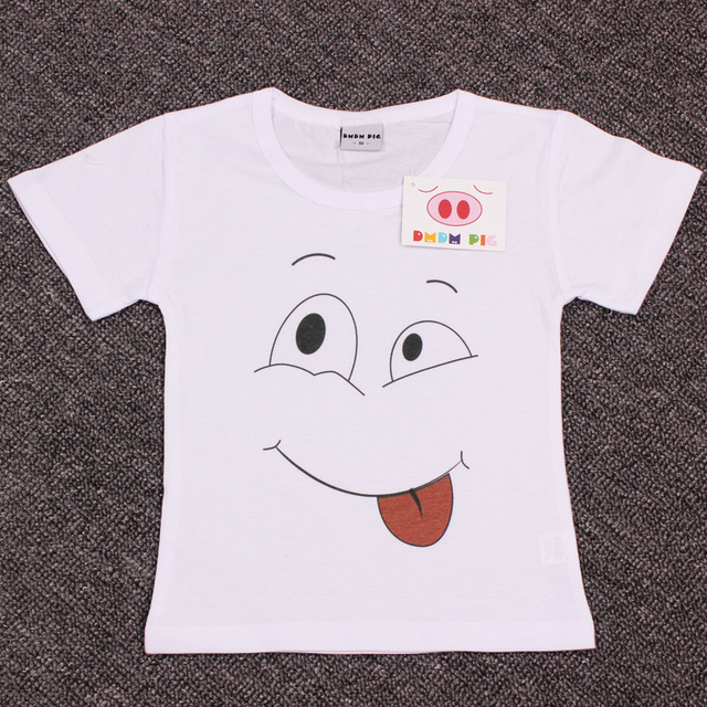 Cotton T-Shirts for Kids with Funny Face Designs