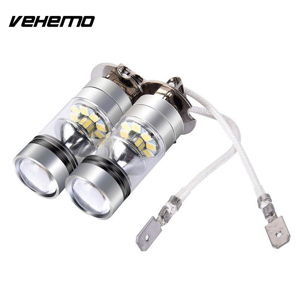 12/24v 100w H3 2pcs Driving Bulb Led Fog Light Super Bright Fog Lamp Headlamp Replacement Durable Moderate Price
