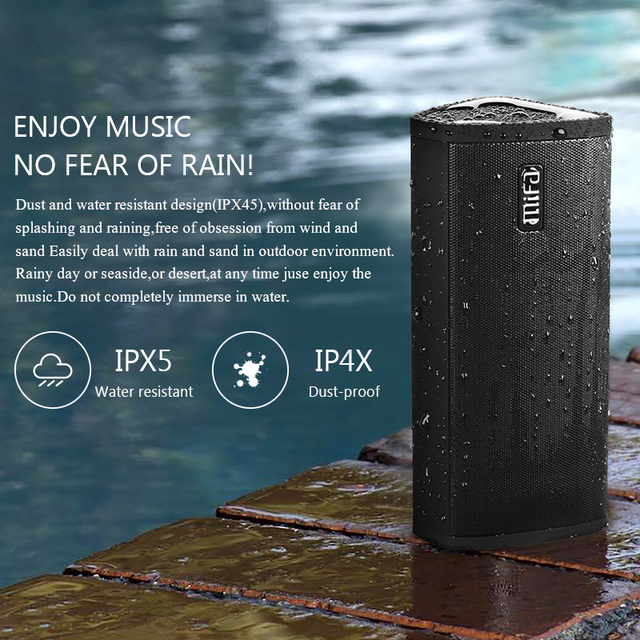 Mifa Bluetooth speaker Portable Wireless Loudspeaker Sound System 10W stereo Music surround Waterproof Outdoor Speaker Consumer Electronics