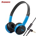 Kanen IP-350 Gaming Headphone 2016 Stereo Heavy Bass DJ Headset Headband Girls Auriculares with Mic for Computer PC Gamer Mobile