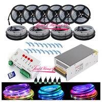50 м 5050 RGB Мечта Цвет 6803 Светодиодные ленты + t1000s управления + 12 В 40A 500 Вт Мощность