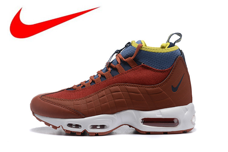 02c5604e5d Original NIKE AIR MAX 95 Sneakerboot Men's Running Shoes, Breathable,  Non-slip Wear-resistant Shock Absorption 806809-204