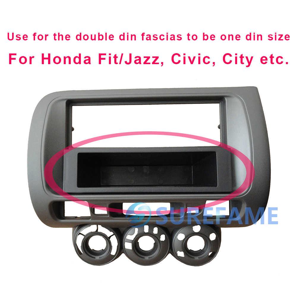 1 Din カーラジオ CD DVD ステレオ再装着ポケットホンダ車シビックフィットジャズ市など筋膜ダッシュトレイトリムキット引き出し