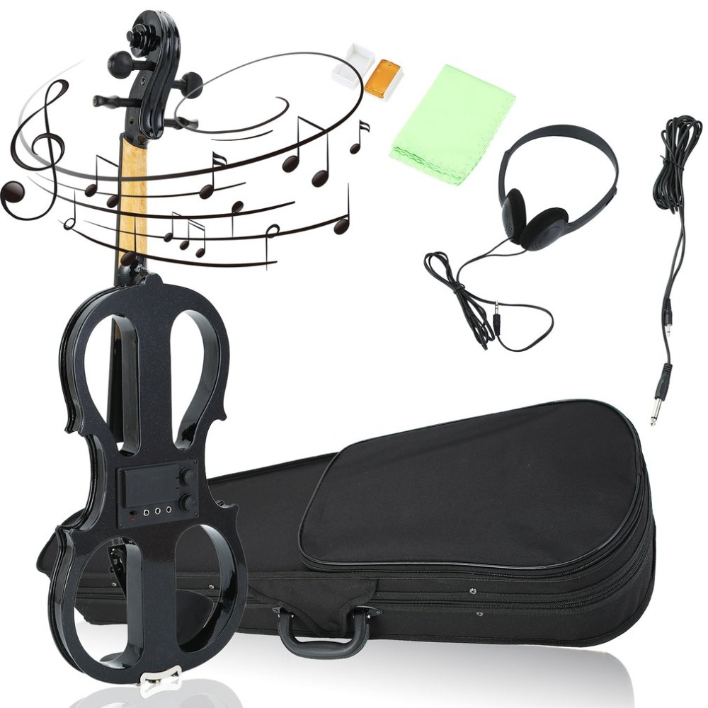 4/4 Maple Electric Violin Best for Beginners Fiddle Headphone Case UK Plug with Exquisite and Delicate Surface Good Gift4/4 Maple Electric Violin Best for Beginners Fiddle Headphone Case UK Plug with Exquisite and Delicate Surface Good Gift