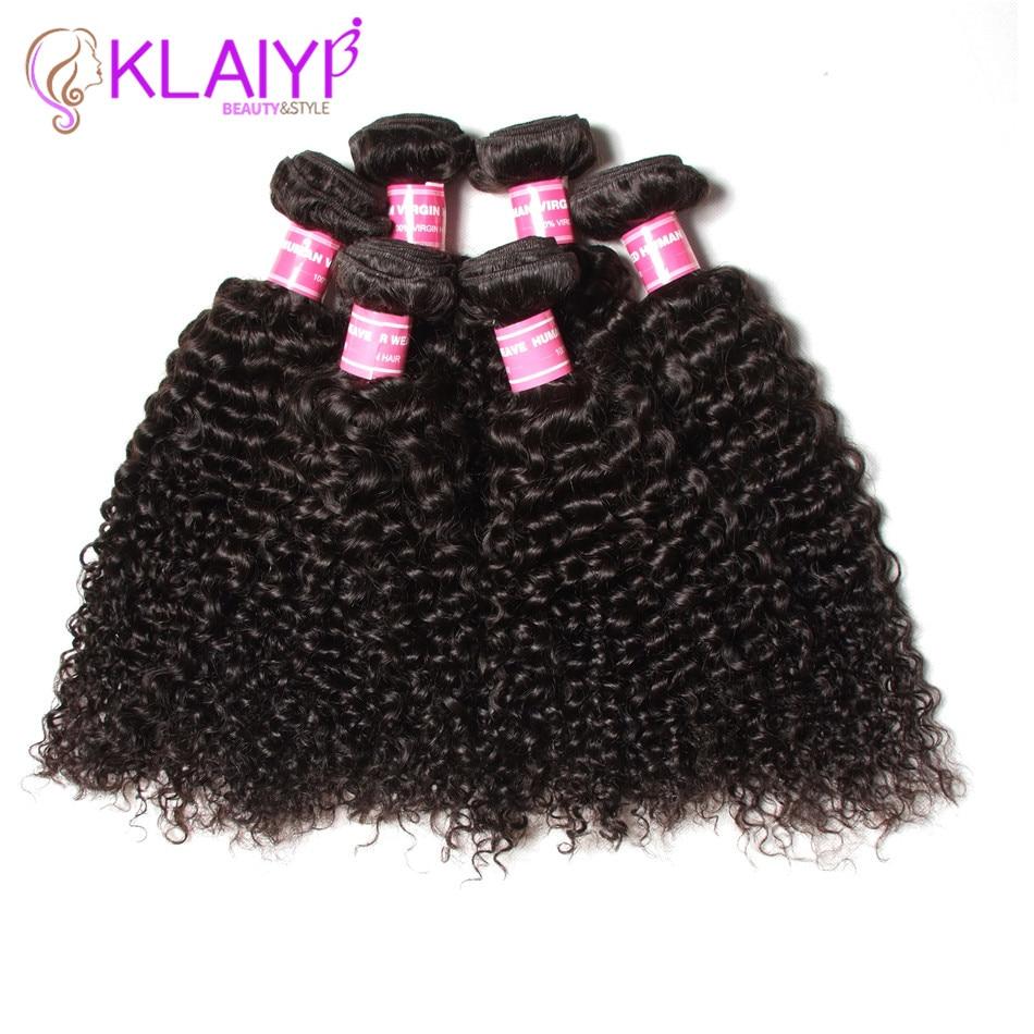 Klaiyi Haar brasilianisches lockiges Haar 13 * 4 Spitze Frontal - Menschenhaar (für Schwarz) - Foto 2