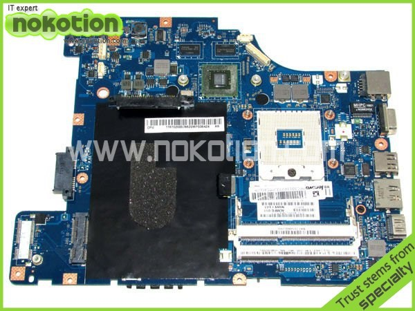 NOKOTION 4CMFG NIWE1 Laptop Motherboard for lenovo G460 G460A LA-5751P HM55 Chipest nVIDIA Geforce 310M GPU DDR3 crystalex