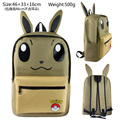 Pokemon Go Eevee Backpack Bag School Book Bag Cute Cartoon Smile Face Bag Kids Boys Girls Gift Xmas Mochila