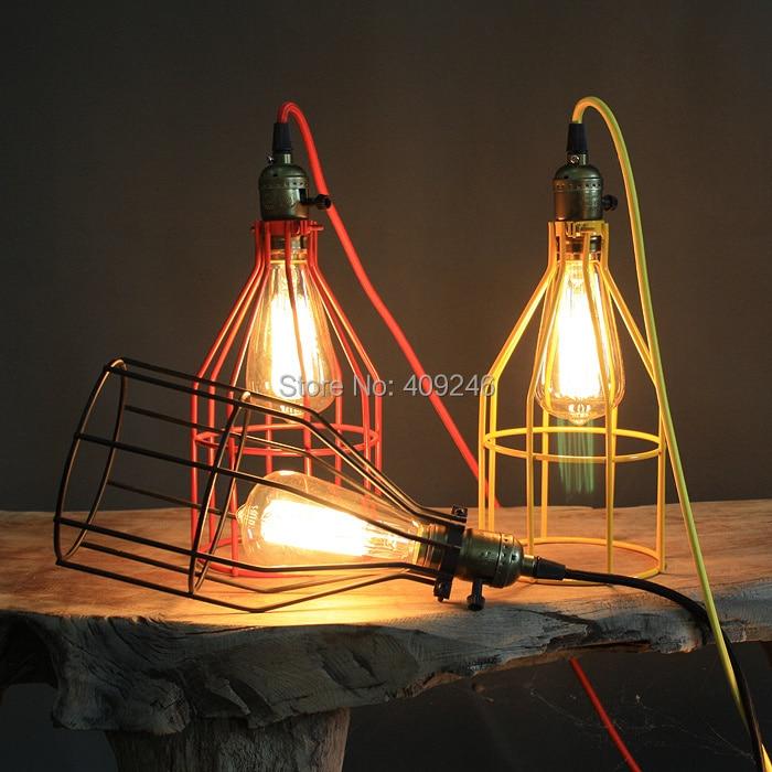 RH LOFT American country wire birdcage chandelier Multicolor Edison light bulb - Golden lighting Online Store 409246 store