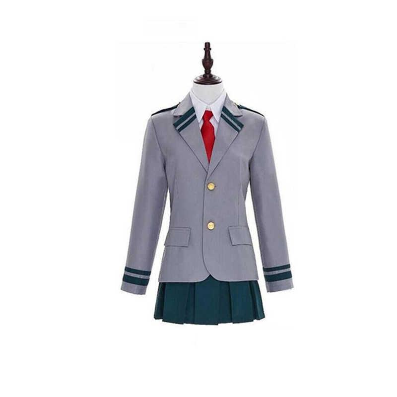 Boku לא גיבור אקדמיה AsuiTsuyu Yaoyorozu Momo בית ספר אחיד שלי גיבור האקדמיה OCHACO URARAKA Midoriya Izuku Cosplay תלבושות