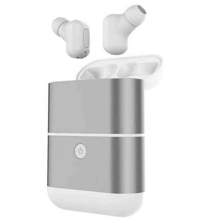 hands free noise cancelling hidden in ear bluetooth headset mini true wireless earbuds twins with power bank box