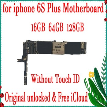 16GB / 64GB / 128GB Factory unlocked for iphone 6s plus Motherboard without Touch ID,100% Original with Full Chips,Free iCloud
