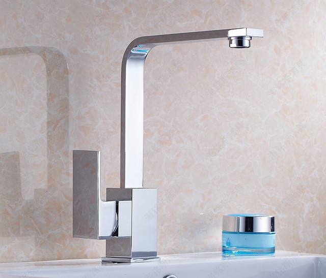 Manufacturers Free Shipping Kitchen Faucet Sink Dish Basin Pots Hot And  Cold Water Faucet Square Flat