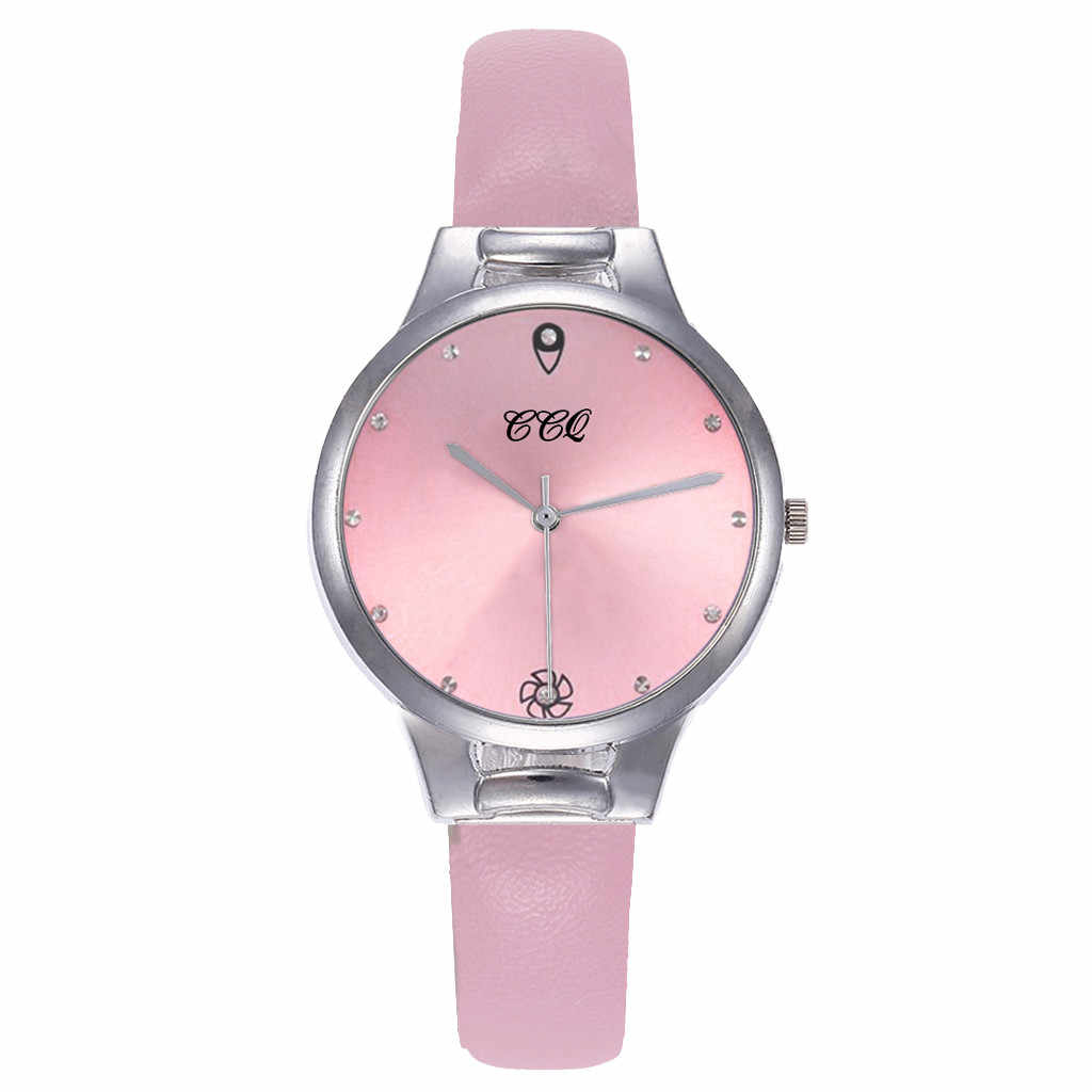 Relogio Feminino 2019 יוקרה מותג אופנה יוקרה בקנה מידה-משלוח מט חיוג עור רצועת גבירותיי קוורץ שעון נשים שעונים