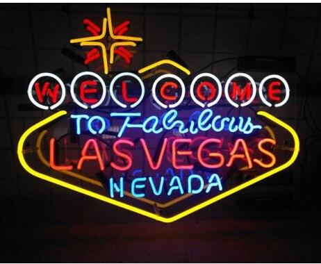 Custom WELCOME LES VEGAS Beer Bar Glass Neon Light Sign|Neon Bulbs & Tubes| |  - title=