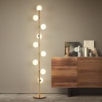 Nordic Modern Minimalist Floor Lamp Luxury Bedroom Living Room Hotel Floor Lamps Personality Magic Bean Bubble Standing Lamp
