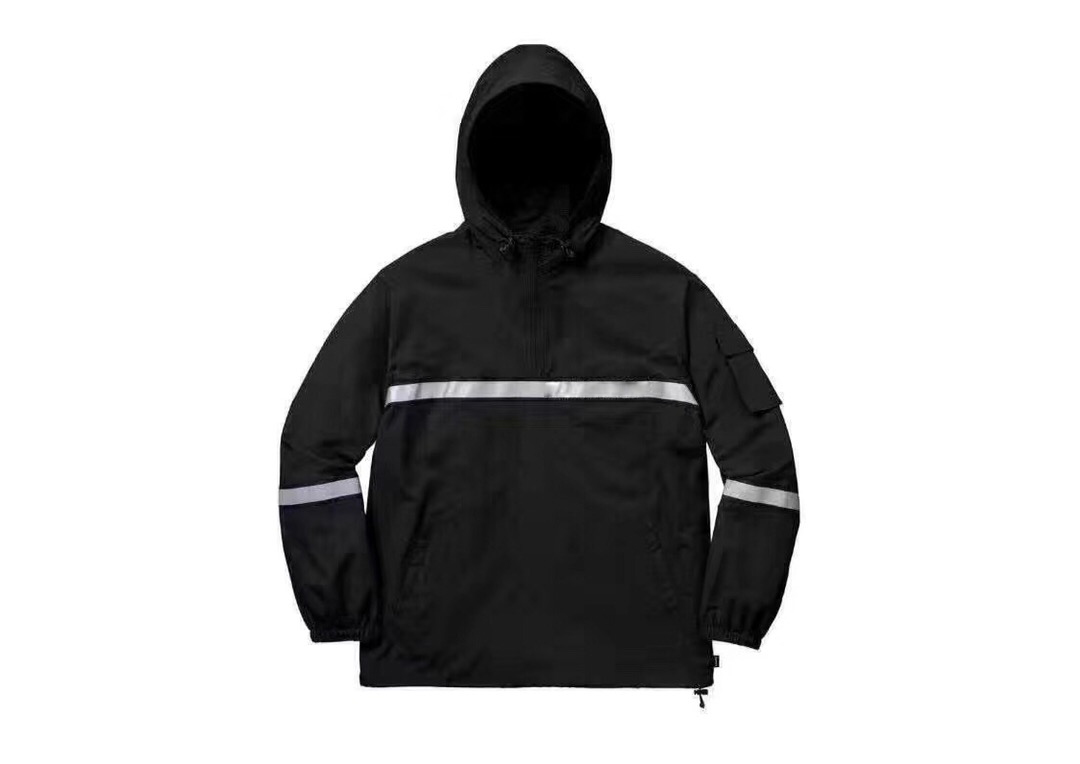 Men's Clothing Good Best Quality 1:1 Reflection Striped Logo Printed Women Men Jackets Windbreaker Hiphhop Us Skateboard Brand Men Hooded Jacket Jackets