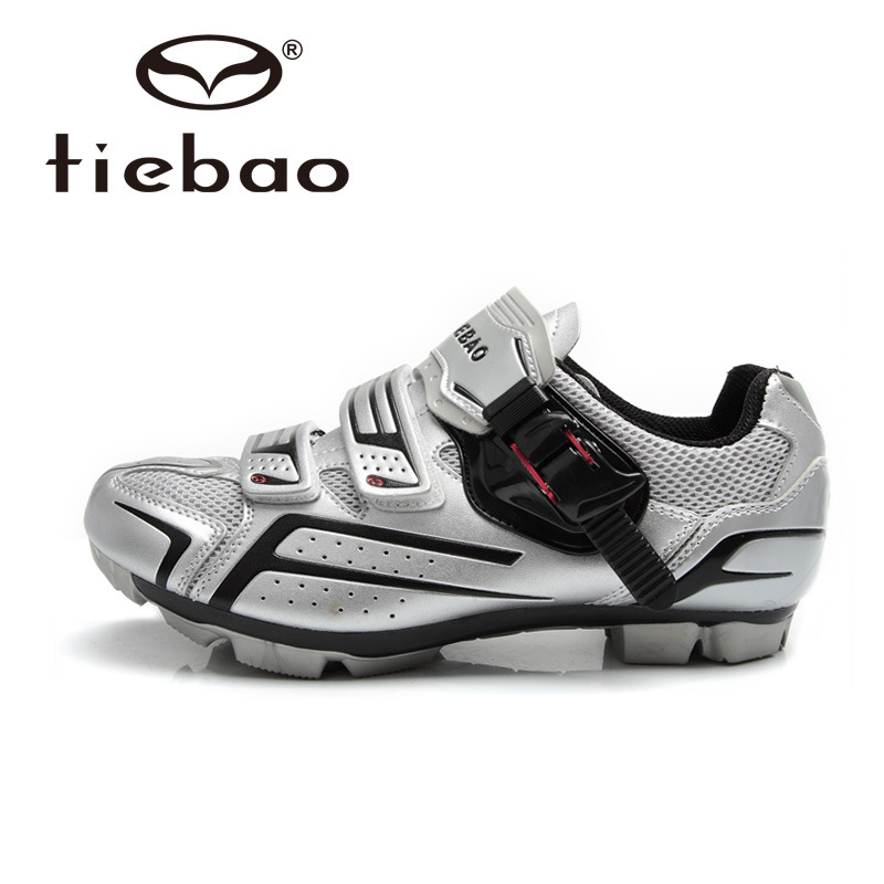 Tiebao High Quality Bike Shoes Men Outdoor MTB Bicycle Sport Shoes Nylon Fiberglass Sole Cycling Shoes Auto-lock Shoes Sapatos mountain bike four perlin disc hubs 32 holes high quality lightweight flexible rotation bicycle hubs bzh002