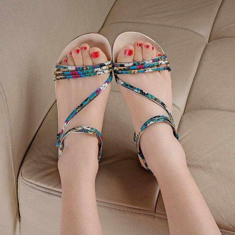 Pratico Il Donna Nuovo Coreano blu Delle Modo Elegante E Anti 2018 Signore Sdrucciolevole rosso Nero bianco Estate Sandali Scarpe Matura Di Confortevole wYqnwxTO