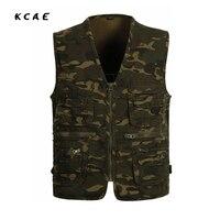 2016 Summer Men's Plus Size L-4XL Jacket Camouflage  Vest Casual Multi-Pocket Waistcoat Men Hot Sale