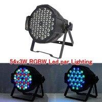 54x3 W RGBW цвета светодиодный сценический par64 света высокой Мощность Led Par свет DMX512 Master Slave DJ диско оборудование Профессиональное освещение