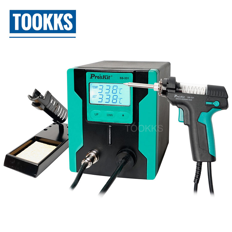 Version mise à jour Pro'sKit SS-331H pistolet à dessouder électrique pompe à dessouder plus efficace augmenter la fonction de sommeil automatique