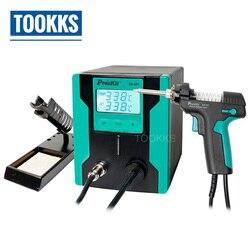 Versione aggiornata Pro'sKit SS-331H Elettrico Dissaldatura Pistola Dissaldatura Pompa Più Efficiente Aumentare La Funzione Automatica di Sonno