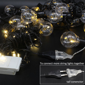 Image 4 - LED String Christmas Lights Outdoor 220V 10M Light Chain LED Festoon Bulb Wedding Party Garland Xmas Decoration Fairy Lights