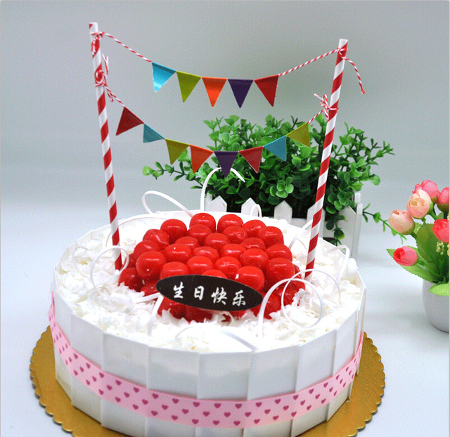 Free Shipping 1pack Of Mini Birthday Cake Decorations Mini Colorful